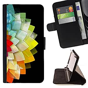 Jordan Colourful Shop - flower black minimalist polygon For Apple Iphone 6 - Leather Case Absorci???¡¯???€????€?????????&