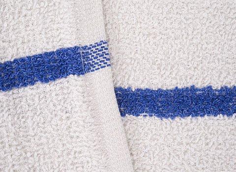 RagLady Terry Bar Mop Towels w/Blue Stripe - 16'' x 19'' - Case of 180 by RagLady (Image #2)