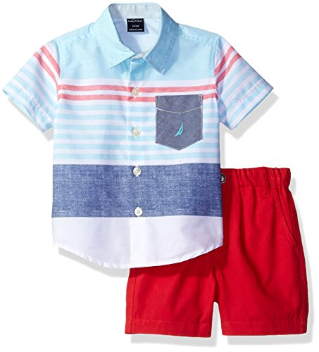nautica-baby-boys-sleeve-woven-and-pull-on-short-set-aqua-18-months