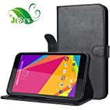 JUSUN BLU Studio 7.0 D700A Case, Customized Leather Folio Stand Protective Wallet Case Cover For BLU Studio 7.0 D700A (Black)