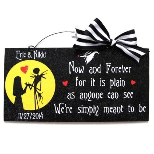 Amazon Nightmare Before Christmas Custom Sign Now And Forever
