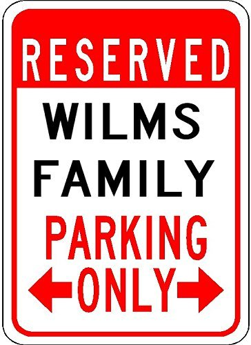 (Wilms Family Parking - Customized Last Name - 7