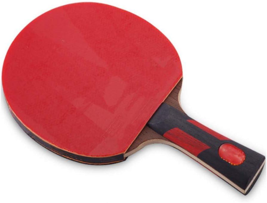 YBWEN Paleta de Ping Pong Siete Estrellas Shot Tabla Raqueta de Tenis Horizontal Mesa de Ping Pong Junta Pong Terminado Raqueta Producto Pong Raqueta de Ping Se Dan la Mano Grips