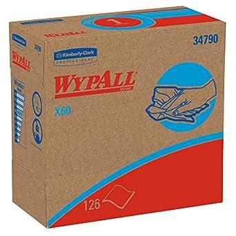 WypAll 34790CT X60 Wipers, Nylon, 9 1/8 x 16 7/8, 126/Box, 10 Boxes/Carton