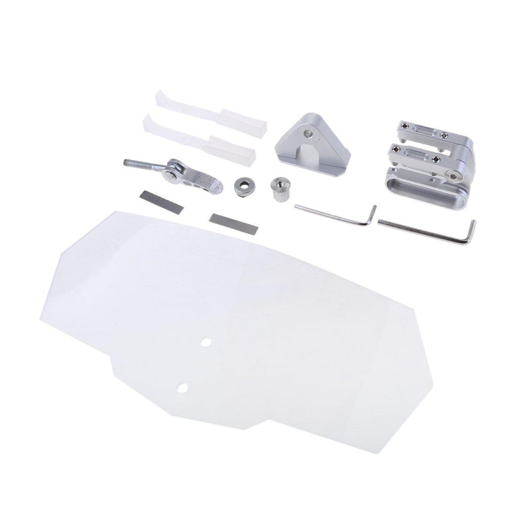 Homyl Kit d'Extension de Pare-Brise Clip Sur Pare-Brise Deflecteur Vent Ajustable Moto