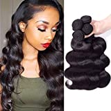 MDL Hair 24 26 28 30 Long Hair 4 Bundles Brazilian Hair Body Wave 100% Unprocessed Virgin Brazilian Human Wet And Wavy Remy Hair Weave Natural Color Total 400g/Pack