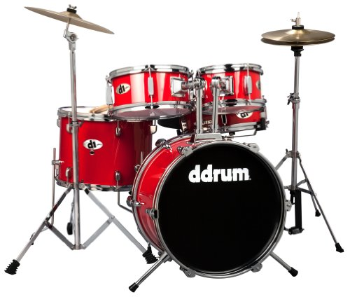 ddrum D1 CRD D1 Junior Drum Set 5 Piece, Candy Red - Candy Drums