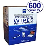 Zeiss Pre-Moistened Lens Cloths Wipes 600 Count (Pack of 3)
