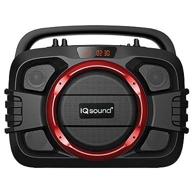 Supersonic IQ-2400BT - home audio sets (70 - 18000 Hz, Black, Red