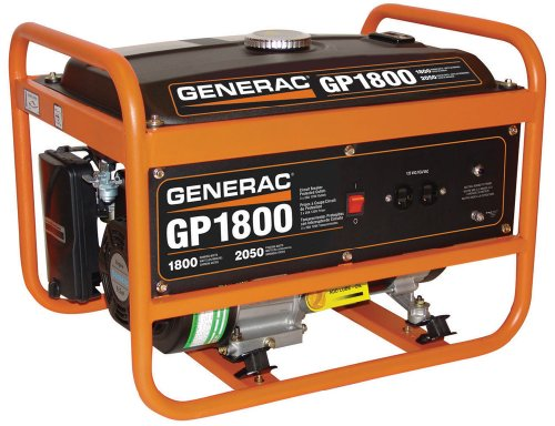 Generac 5981 GP1800 1800 Running Watts/2050 Starting Watts Gas Powered Portable Generator - CSA Compliant