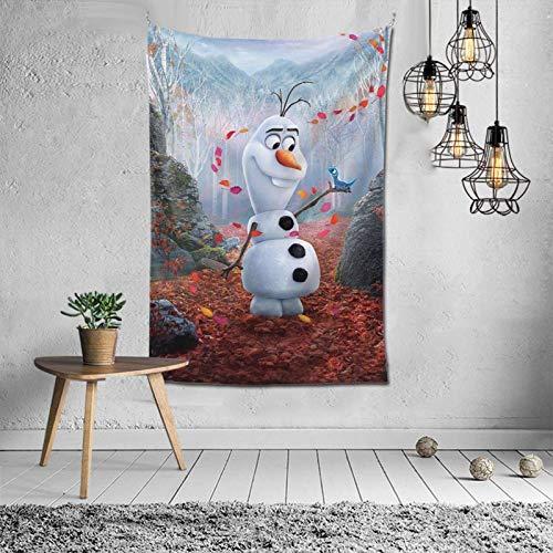 huatongxin Frozen Olaf Leaves Tapisserie, Tenture Poster Tapisserie for Living Room Dorm Décoration de Maison, 40×60…