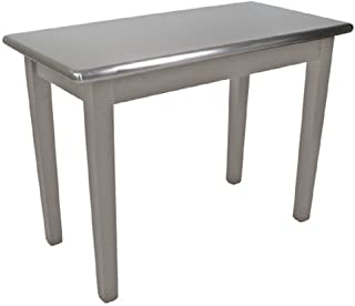 """product image for John Boos Cucina Americana Moderno Prep Table with Stainless Steel Top Size: 48"""" W x 30"""" D, Base Finish: Useful Gray"""