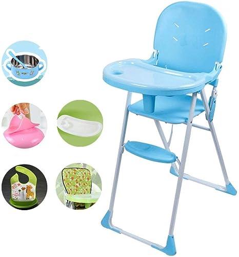 GJJSZ Children's Dining Chair Foldable Baby Baby Multi