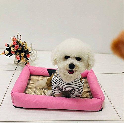 KEANER Breathable Pet Cooler Cold Bed Pet Cooling Mat(Pink,L)