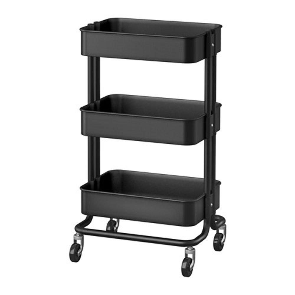 Raskog 1419-903-339-76 Home Kitchen Storage Utility Cart, Black