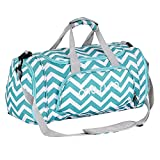 MOSISO Water Resistant Gym Sports Dance Travel Weekender Duffel Bag with Shoe Compartment, Chevron Hot Blue