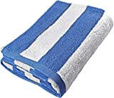 Utopia Towels Large Beach Pool Towel - Towel in Cabana Stripe - Blue - Cotton - Easy Care - Maximum Softness and Absorbency (35 x 70 Inches)