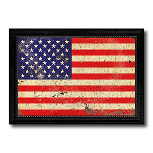 USA Flag Vintage Canvas Print Picture Frame Home Decor Wall Art Office Decoration Interior Design Patriotic Souvenir Western Gifts - 15