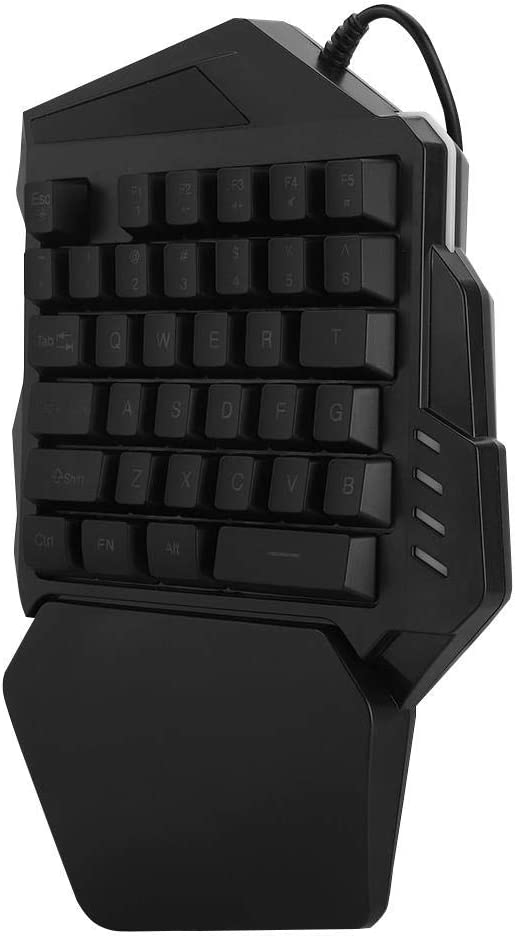 One-Handed Gaming Keyboard 35 Keys RGB Single Hand Mechanical Gaming Keyboard with Wrist Rest Support for LOL//PUBG//MOBA//MMO//FPS