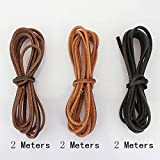 LolliBeads (TM) 3 mm Genuine Round Leather Cord