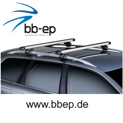hochstehender Dachtr/äger//Lastentr/äger von THULE mit Innovativer SlideBar Traverse f/ür das einfache und ergonomischer beladen mit schweren und sperrigen Lasten f/ür MERCEDES BENZ GLK Dac - mit normale SUV ab Baujahr 2008 bis heute