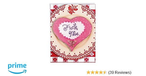 Amazon Com Jumbo Fvck Me Valentines Day Card Happy Vday Greeting