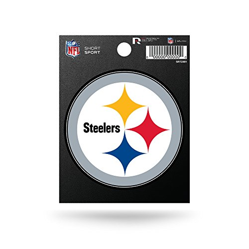 (Rico Industries NFL Pittsburgh Steelers Die Cut Team Logo Short Sport Sticker)
