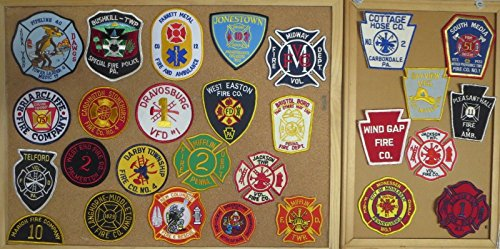 PENNSYLVANIA FIRE/RESCUE DEPARTMENT PATCHES! SET NINE! LOT OF 28!