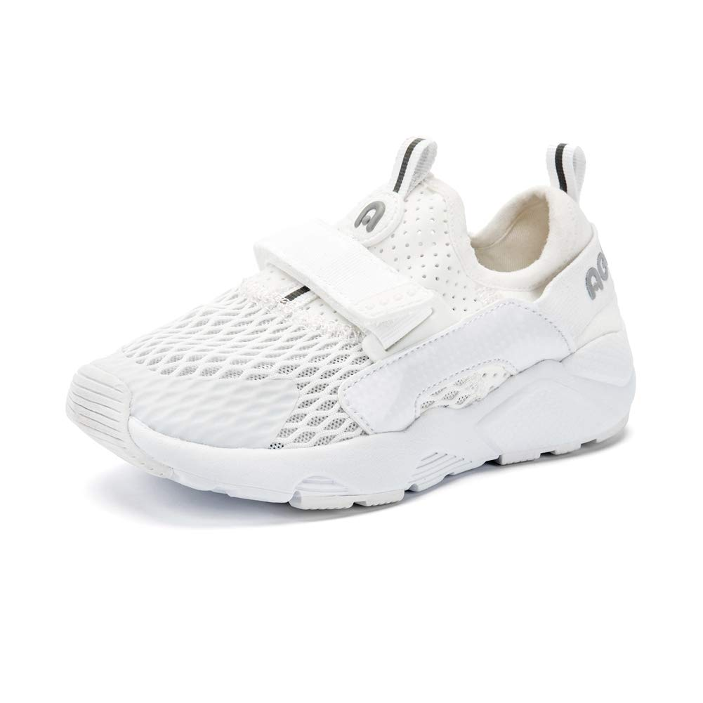 ABC KIDS Sneakers Basic for Boys and Girls, Kids Lightweight Athletic Comfort Mesh Breathable Shoes (White3, 9 M US(Little Kids)) by ABC KIDS (Image #1)