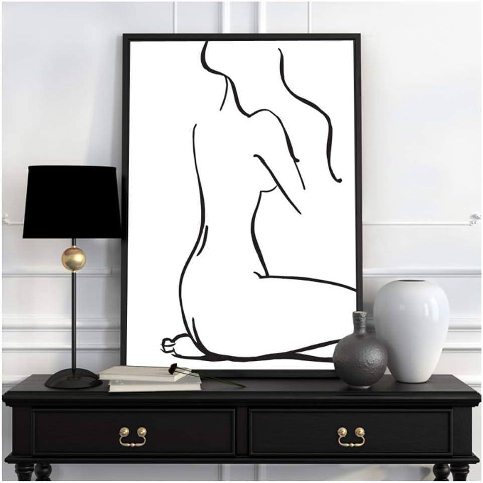nr Moderno Abstracto Minimalista Sirena Picasso Carteles Impresiones nórdica Sala de Estar Cuadros de Pared decoración del hogar lienzos pinturas-50x70cmx2 sin Marco