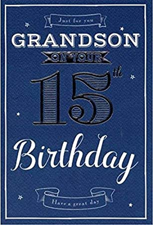 Special Grandson 15th Birthday Card