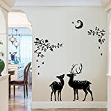 Oren Empower Creative Peace of mind wall stickers for bedroom (Finished Size on Wall - 108 cm X 110 cm)