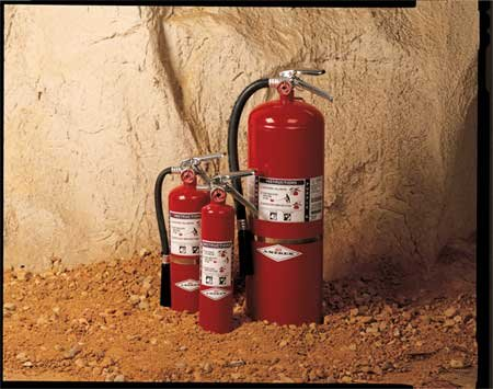 Amerex Fire Extinguisher, Dry Chemical, BC, 120B:C