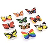 Hosyl Romantic Magic Color Changing LED Butterfly Decorative Light,Stick On Butterfly Wall Light, Battery Operated LED Night Light For Xmas Festive Garden Home Party (10PCS)