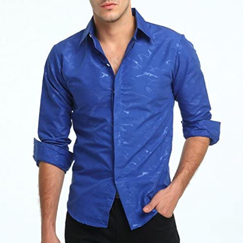 Suesshop Mens T Shirts Baggy Cotton Linen Solid Color 3//4 Sleeve Tops Blouses