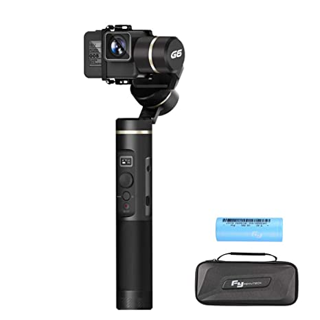 Feiyu G6 3-Axis Handheld Gimbal Stabilizer with WIFI Bluetooth Connection, 12Hrs Runtime, OLED Screen for Gopro Hero 6 / 5 / 4 Session, Sony RX0, Yi Cam 4K, AEE Action Cameras (Updated Version of G5)
