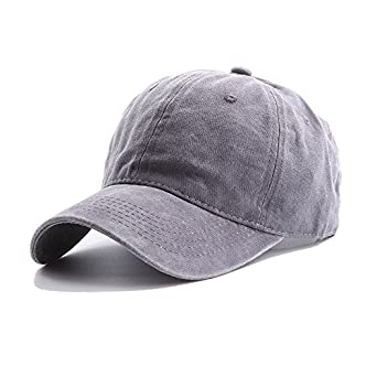 6e77df3760f Amazon.com  vbanchovy5 Baseball Caps Men Women Unconstructed Summer Cotton  Fashion Dad Hat (Light Grey)  Clothing