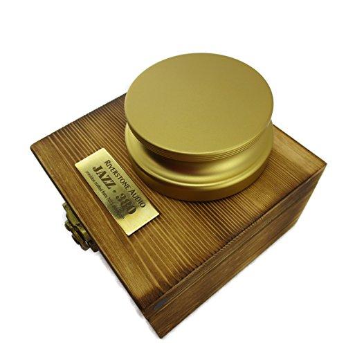 Riverstone Audio - Jazz Series 380 Record Weight Stabilizer - Medium Weight (380 g) Anodized Aluminum - (AZTEC GOLD)