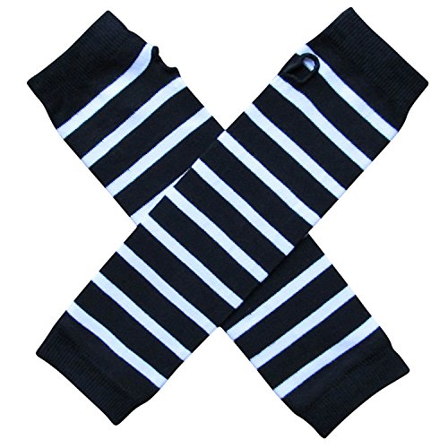 So Sydney Team School Spirit Sports Fan ARM Warmers, Baby, Toddler, Girl, Boy (Team Black & White) - Fan Costumes