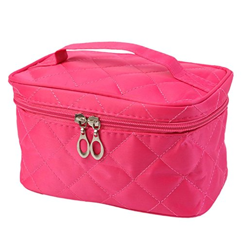 Makeup Cosmetic Bag, Bolayu Girl Fashion Multifunction Travel Beauty Tool Square Case (C)