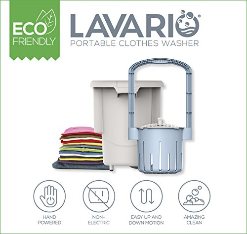 Lavario Portable Clothes Washer Manual Non-Electric Portable Washing Machine for Camping, Apartments, RV s, Delicates