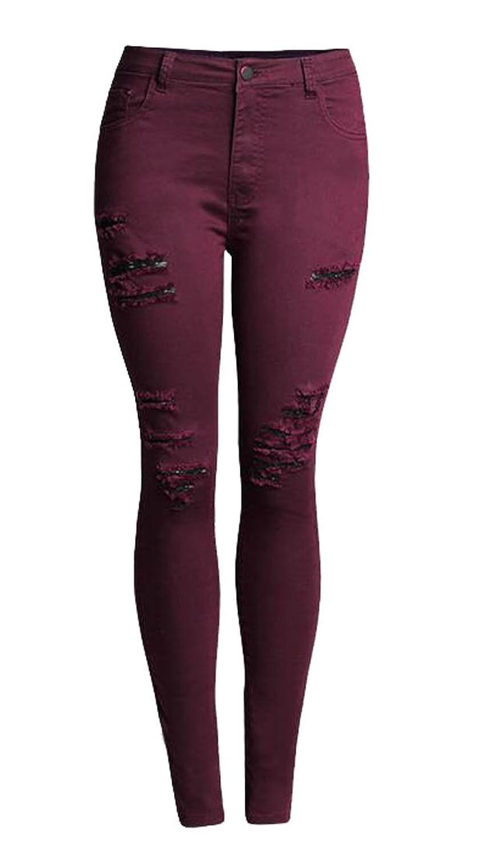 MLG Women's Stylish Washed Stretch Denim Skinny Jean