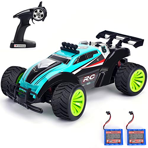 Geburun Remote Control Car - Newest 2.4 GHz High Speed RC Car 1/16 Scale Off Road RC Truck with Two Rechargeable Batteries, High Speed Monster Truck Racing Toy Car for Adults & Kids (Remote Controller Car)