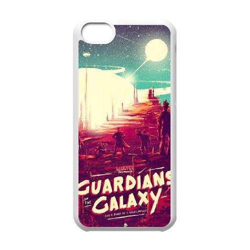 G2W11 Gardiens de la Galaxie coque iPhone K8L3JF 5c cellulaire cas de téléphone couvercle coque blanche RT1YNS1EW