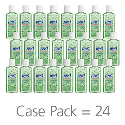 - PURELL Advanced Hand Sanitizer Soothing Gel for The Workplace, Fresh Scent, with Aloe and Vitamin E - 4 fl oz flip Cap Bottle (Pack of 24) - 9631-24