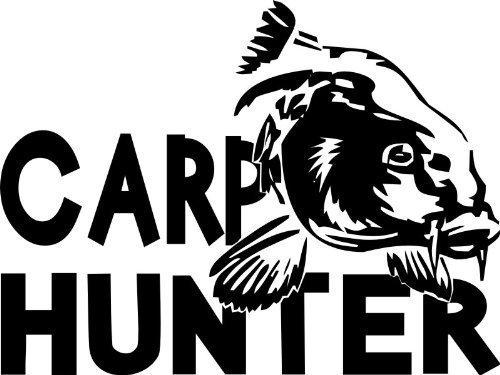 Shirtstown Auto Aufkleber Carp Hunter Angeln Karpfen Fischen