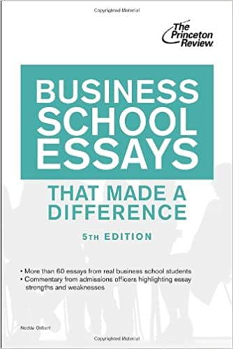 Business School Essays That Made A Difference Th Edition Graduate  Business School Essays That Made A Difference Th Edition Graduate School  Admissions Guides Th Edition