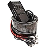 Seismic Audio - SAJLP-12x4x100-12 Channel 100 Foot XLR Low Profile Snake Cable with 4 TRS Returns - Circuit Board Snake for Recording, Stage, Studio PA DJ use