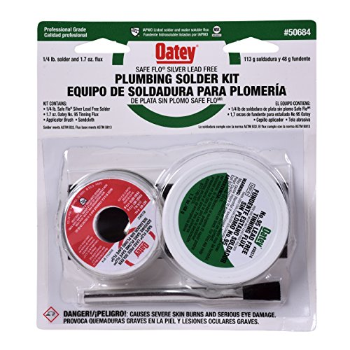 Lead Free Solder Kit - Oatey 50684 Safe-Flo Silver Plumbing Kit