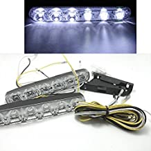 Eaglerich 2 Pieces£¨1set£©Small Harpoon Power Led Daytime Running Lights 6LED Daytime Running Lights Super Bright with Turn